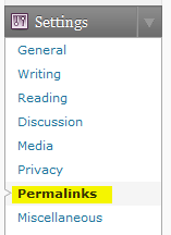 Permalinks in your WordPress admin settings