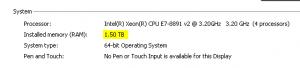 1.5TB RAM